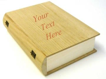 Personalised Engraved Wooden Book Box