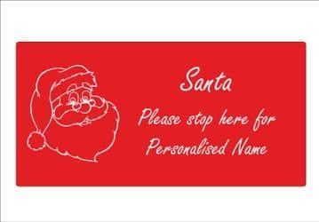 Personalised Santa Please Stop Here Sign