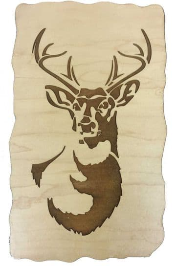 Stag - Engraved Wooden Wall Art Plaque - Choice of Materials