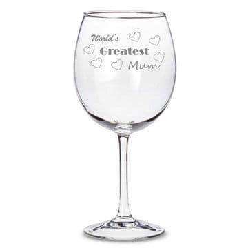 World's Greatest Mum Wine Glass