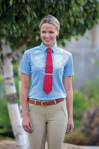 Short Sleeve Tie Shirt - Ladies