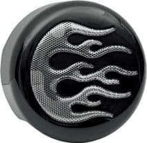 COVER HORN BLK/CHR FLAME