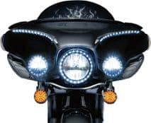 LENS FLAT LED AMBER T/S