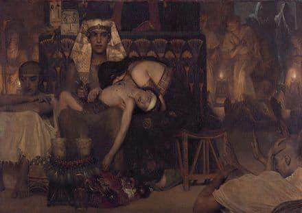 Alma-Tadema, Sir Lawrence: Death of the Pharaoh's Firstborn Son. Fine Art Print.  (003791)
