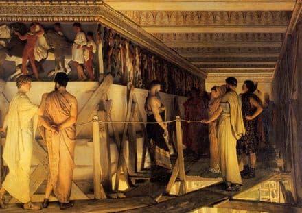 Alma-Tadema, Sir Lawrence: Pheidias and the Frieze of the Parthenon, Athens, 1868.  (00655)