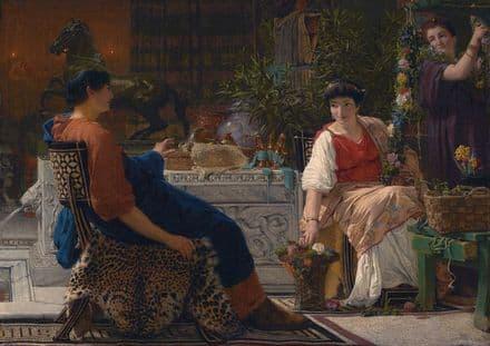 Alma-Tadema, Sir Lawrence: Preparations for the Festivities. Fine Art Print.  (003799)