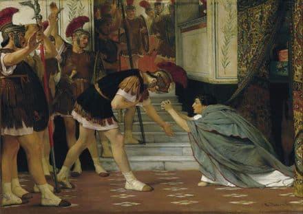 Alma-Tadema, Sir Lawrence: Proclaiming Claudius Emperor. Fine Art Print.  (003810)
