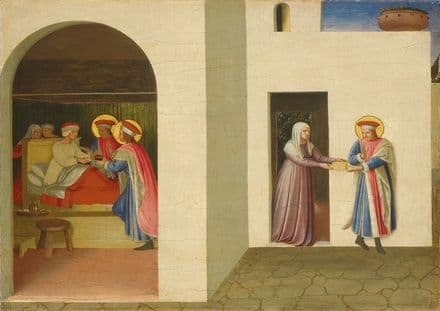 Angelico, Fra: The Healing of Palladia by Saint Cosmas and Saint Damian. Fine Art Print.  (4172)