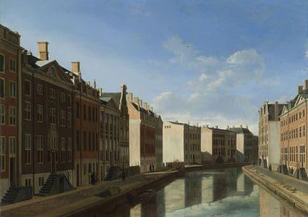Berckheyde, Gerrit Adriaenszoon: View of the Golden Bend in the Herengracht. Fine Art Print (4036)