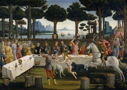 Botticelli, Sandro: The Story of Nastagio degli Onesti III. Fine Art Print.  (001885)