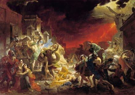 Briullov (Bryullov), Karl: The Last Day of Pompeii. Fine Art Print.  (00597)