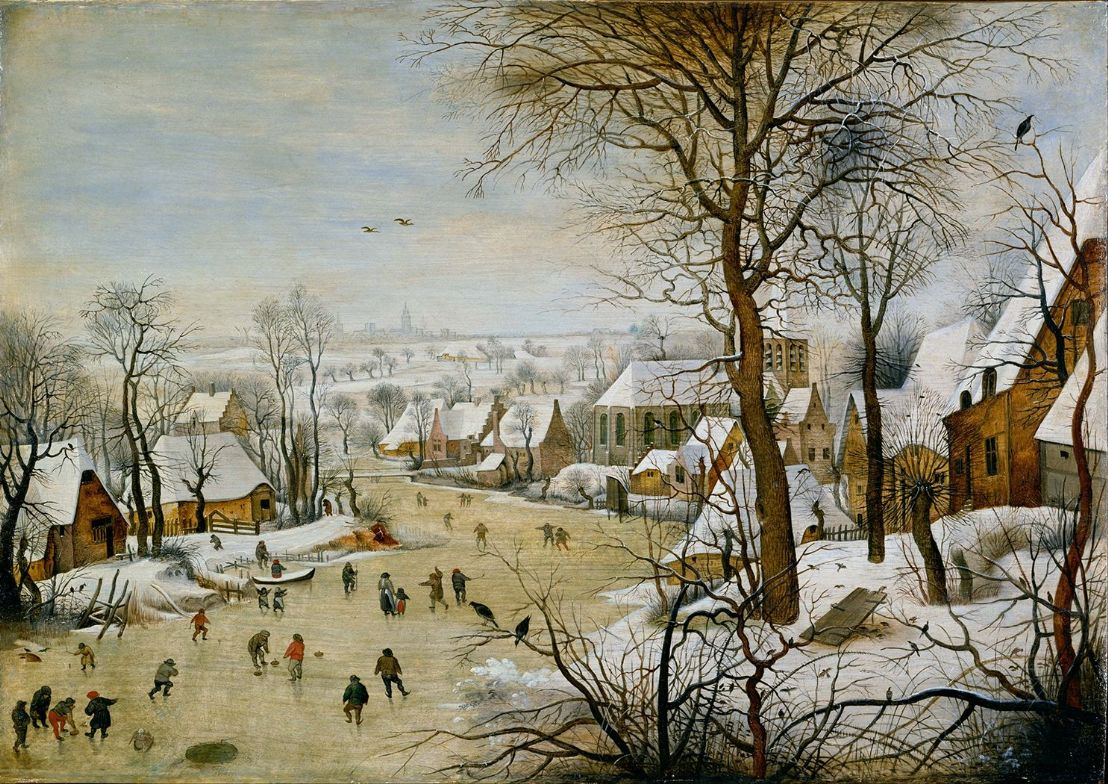 Brueghel the Younger, Pieter: Winter Landscape with Bird Trap. Fine Art Print.  (003102)