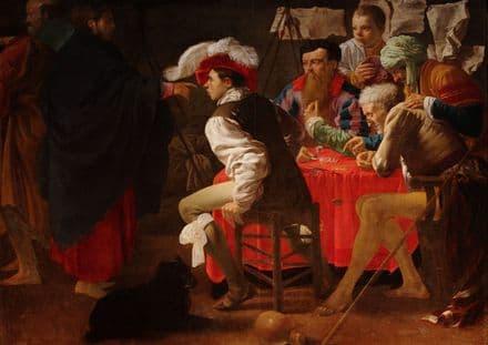 Brugghen, Hendrick Ter: The Calling of St (Saint) Matthew. Fine Art Print.  (002148)