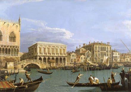 Canaletto: Bridge of Sighs, Venice (La Riva degli Schiavoni). Fine Art Print.  (003333)