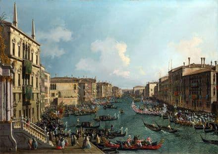 Canaletto, Giovanni Antonio Canal: A Regatta on the Grand Canal. Fine Art Print.  (003454)