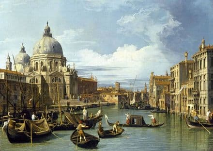 Canaletto, Giovanni Antonio Canal: The Entrance to the Grand Canal, Venice.  (003530)