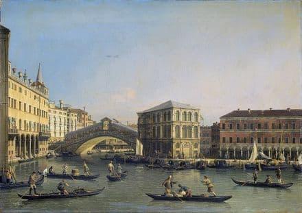 Canaletto, Giovanni Antonio Canal: The Rialto Bridge. Fine Art Print.  (003457)