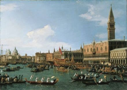 Canaletto: Return of 'Il Bucintoro' on Ascension Day. Fine Art Print.  (003326)