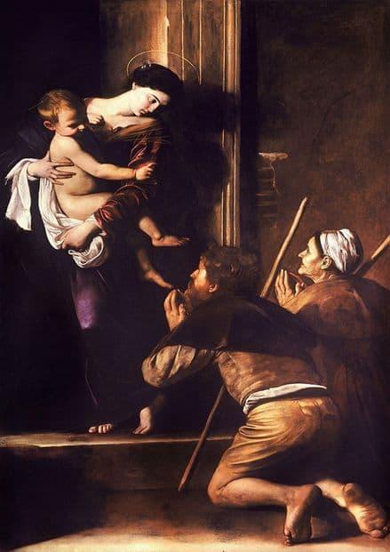 Caravaggio, Michelangelo Merisi da: Madonna of Loreto. Fine Art Print.  (002078)