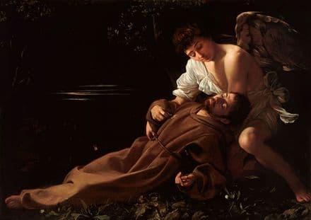 Caravaggio, Michelangelo Merisi da: Saint Francis of Assisi in Ecstasy. Fine Art Print.  (002082)