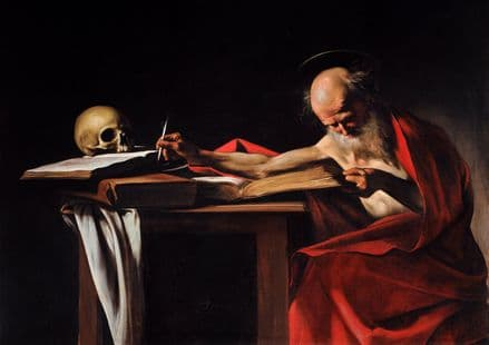 Caravaggio, Michelangelo Merisi da: Saint Jerome Writing. Fine Art Print.  (001486)