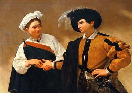 Caravaggio, Michelangelo Merisi da: The Fortune Teller. Fine Art Print.  (002086)