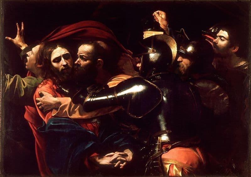 Caravaggio, Michelangelo Merisi da: The Taking of Christ. Fine Art Print.  (002080)