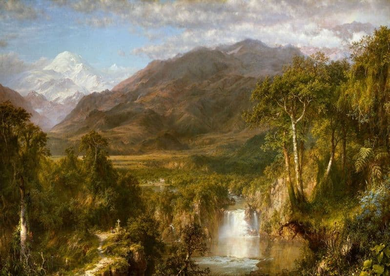 Church, Edwin Frederic: The Heart of the Andes. Landscape Fine Art Print.  (001037)