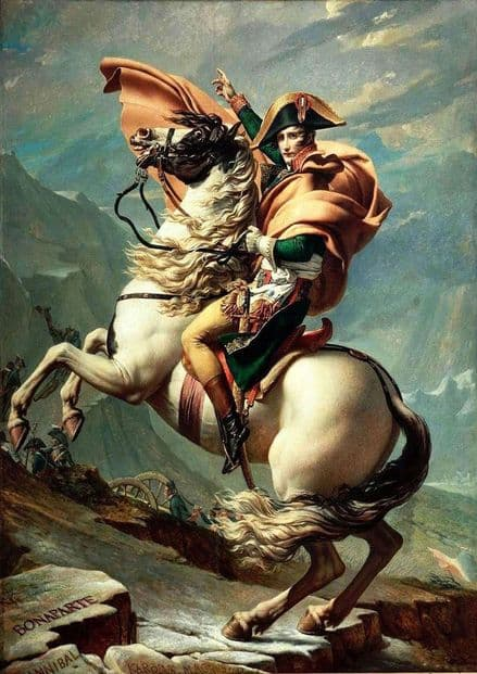 David, Jacques Louis: Napoleon (1769-1821). Fine Art Print.  (001511)