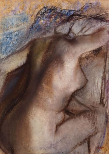 Degas, Edgar: After the Bath, Woman Drying Herself. Fine Art Print.  (003735)