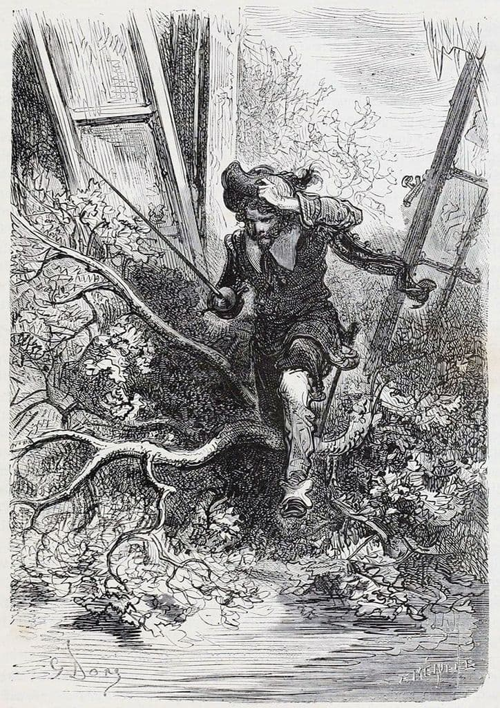 Dore, Gustave: Entered the Fray (Illustration from Le Capitaine Fracasse) Fine Art Print.  (3974)