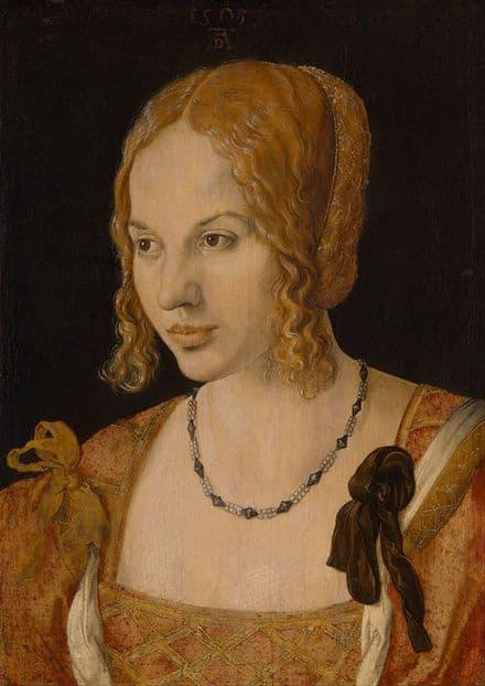 Durer, Albrecht: Portrait of a Young Venetian Woman. Fine Art Print.  (001911)
