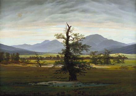 Friedrich, Casper David: Village Landscape in Morning Light (The Lone Tree).  (003889)