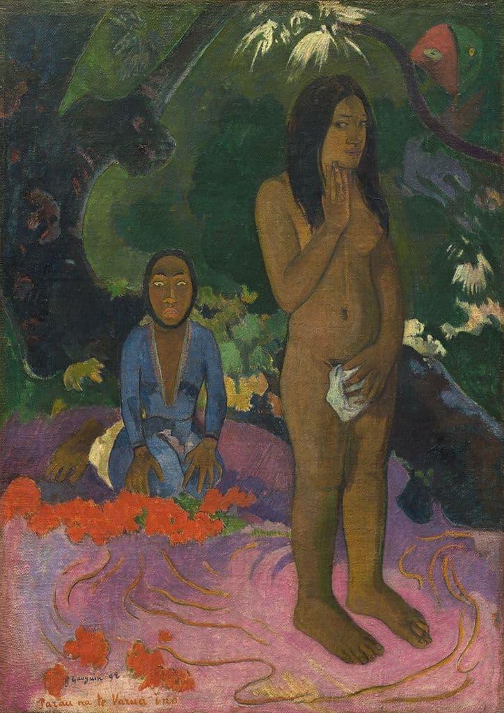Gauguin, Paul: Parau na te Varua ino (Words of the Devil). Fine Art Print.  (003567)
