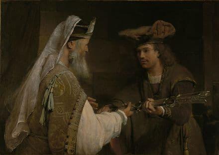 Gelder, Aert de: Ahimelech Giving the Sword of Goliath to David. Fine Art Print.  (004021)