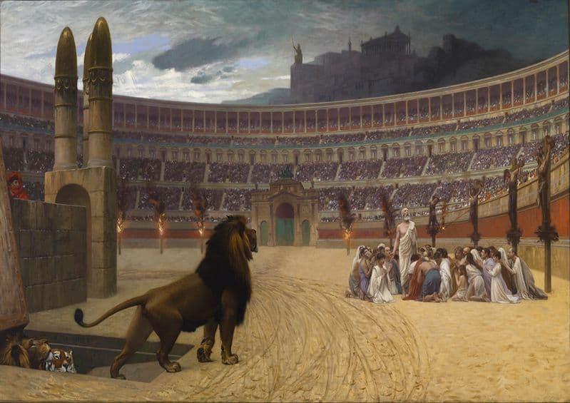 Gerome, Jean Leon: The Christian Martyrs' Last Prayer. Fine Art Print.  (00912)