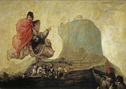 Goya, Francisco de: Asmodea or Fantastic Vision, Vision fantástica. Fine Art Print.  (003002)