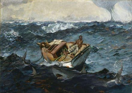 Homer, Winslow: The Gulf Stream. Nautical/Marine/Fishing Fine Art Print.  (003464)