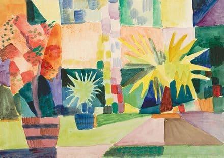 Macke, August: Garden on Lake Thun. Fine Art Print.  (002179)