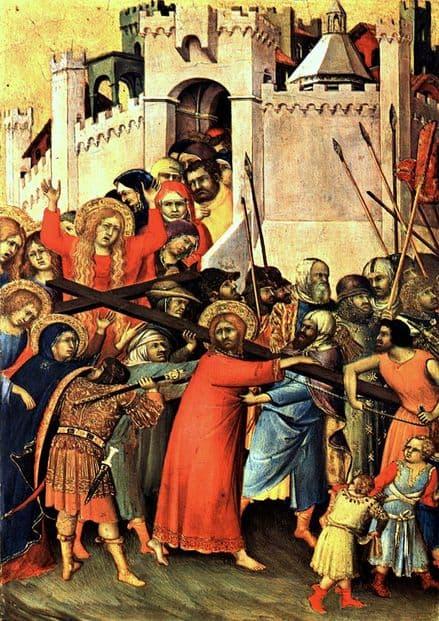 Martini, Simone: Road to Calvary/The Carrying of the Cross. Religious Fine Art Print.  (00126)