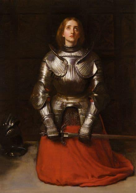 Millais, John Everett: Joan of Arc, 1865 (The Maid of Orleans). Fine Art Print.  (001237)