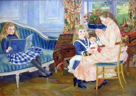 Renoir, Pierre Auguste: Children's Afternoon at Wargemont. Fine Art Print.  (004261)