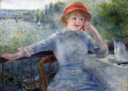 Renoir, Pierre Auguste: Portrait of Alphonsine Fournaise. Fine Art Print.  (004286)