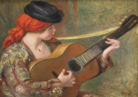 Renoir, Pierre Auguste: Young Spanish Woman with a Guitar. Fine Art Print.  (004280)
