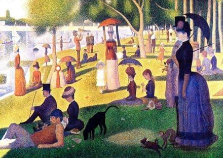 Seurat, Georges Pierre: Sunday Afternoon on the Island of La Grande Jatte. Fine Art Print.  (00243)
