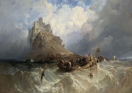 Stanfield, (William) Clarkson Frederick: Mount St (Saint) Michael, Cornwall, England.  (003474)