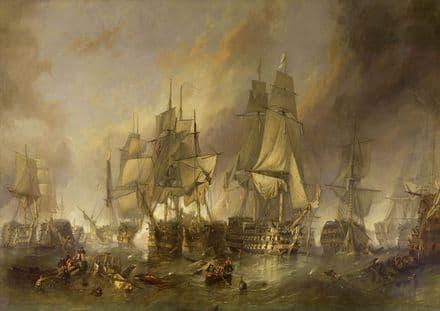 Stanfield, (William) Clarkson Frederick: The Battle of Trafalgar. Fine Art Print.  (00387)