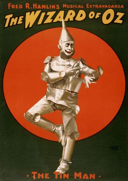 The Tin Man From the Wizard of Oz. Vintage Film/Movie/Musical Print.  (002818)