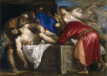 Titian (Tiziano Vecellio): The Burial of Christ. Religious/Christian. Fine Art Print.  (001942)