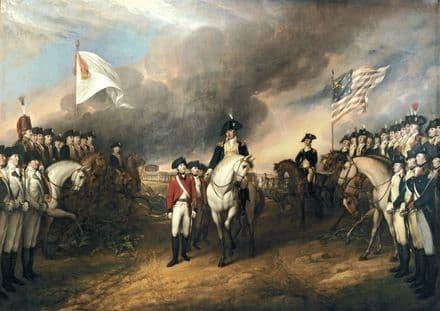 Trumbull, John: The Surrender of Lord Cornwallis at Yorktown, October 19, 1781. (0027)